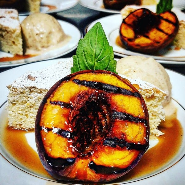 Grilled Peach & Cinnamon Ice Cream