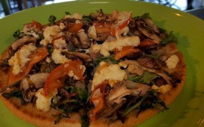 Duck Confit and Mushroom Flatbread