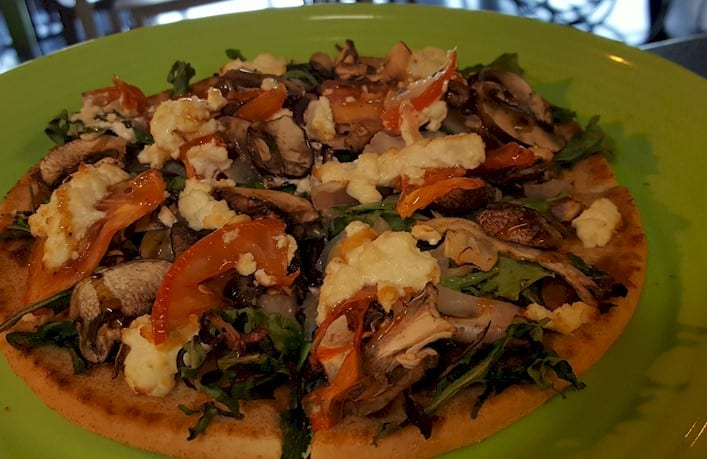 Duck Confit and Mushroom Flatbread